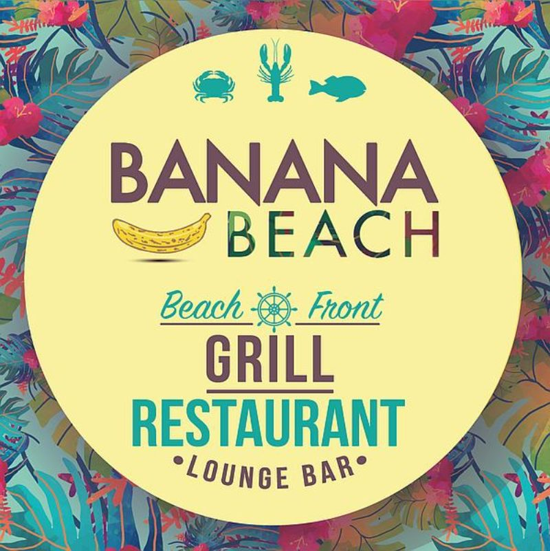Banana Beach Restaurant. Lounge on the Beach while enjoying a cool drink and the hot sun!